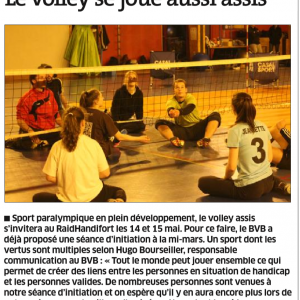 Initiation Volley Assis du mercredi 16 mars