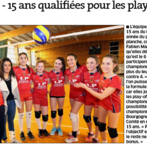Qualification des M15 en Play Off