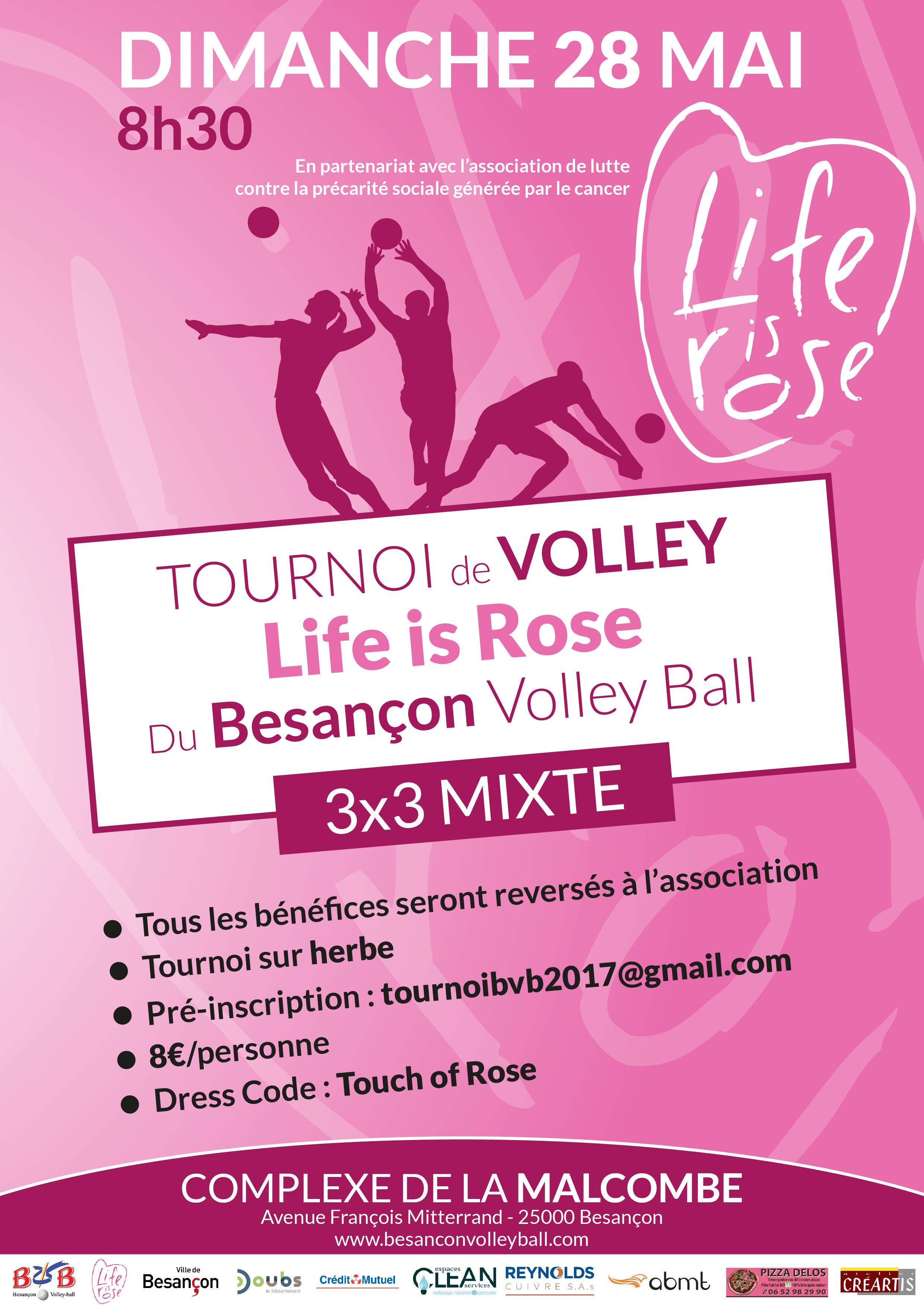 Affiche Tournoi life is Rose Finale