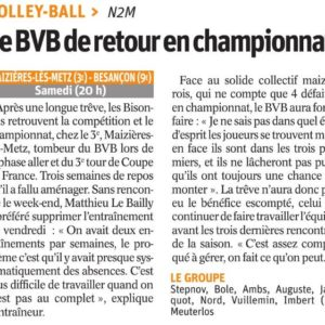 14.04.18 Avant Maizières les Metz – BVB