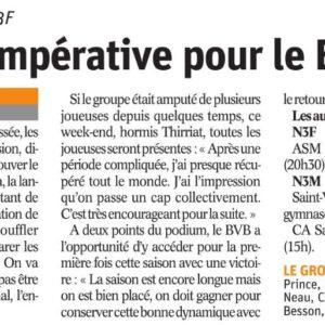 24.11.18 Avant BVB – Dijon Talant