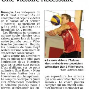 Présentation BVB – Villefranche sur Saône