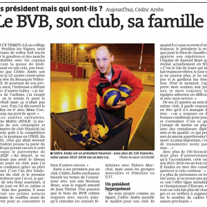 Président du BVB, Cédric Ambs