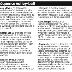 Fréquence Volley 17.02.16