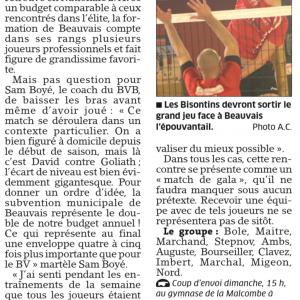 22.10.16 Avant BVB – Beauvais