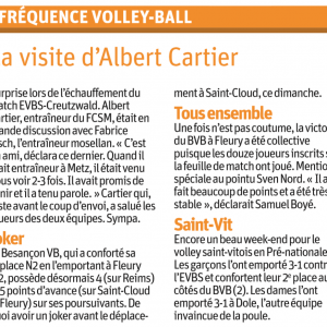 23.11.16 Fréquence Volley