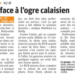 04.02.18 Avant BVB – Calais